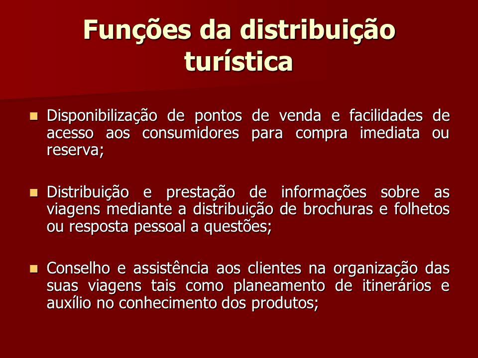 Funções da distribuição turística