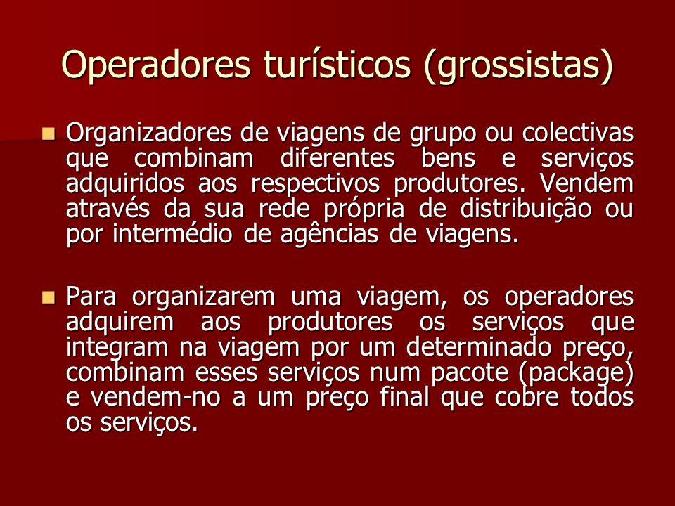 Operadores turísticos (grossistas)