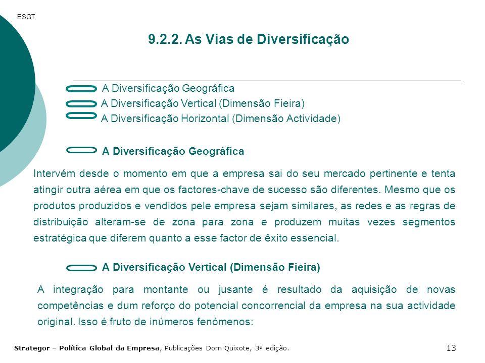 9.2.2. As Vias de Diversificação