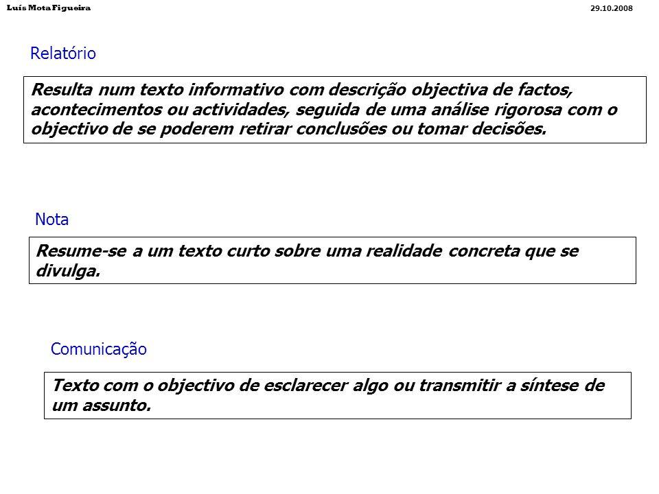 Luís Mota Figueira29.10.2008. Relatório.