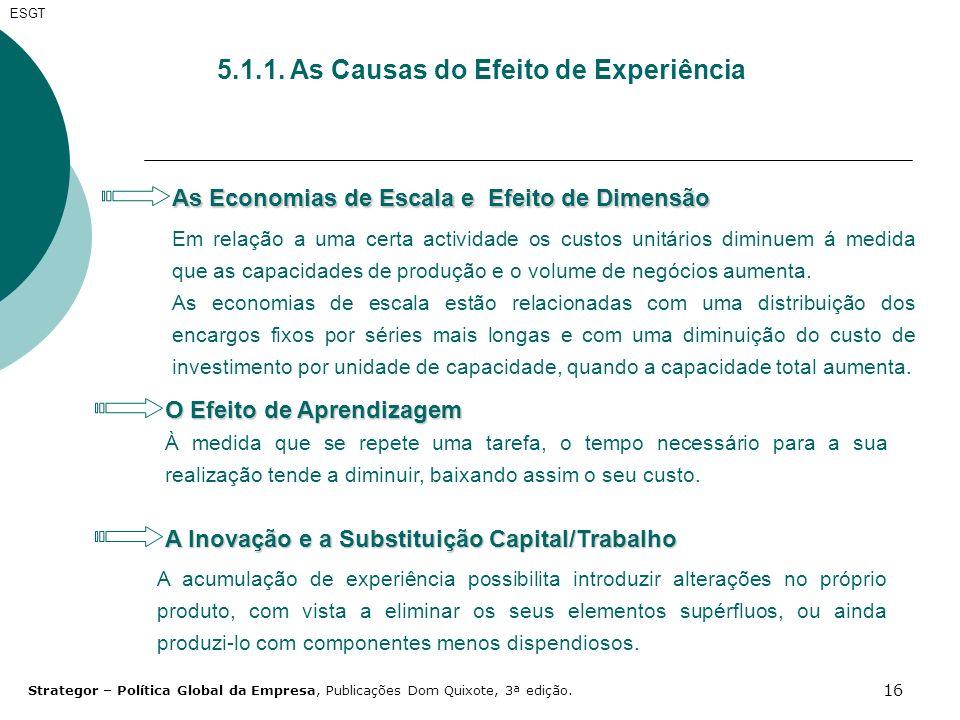 5.1.1. As Causas do Efeito de Experiência