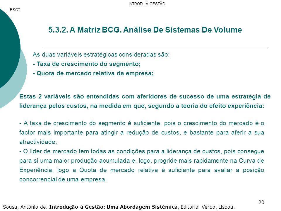 5.3.2. A Matriz BCG. Análise De Sistemas De Volume