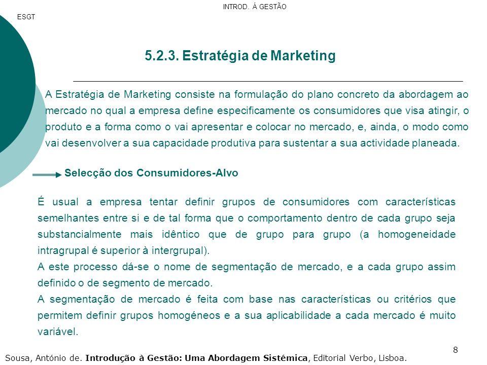 5.2.3. Estratégia de Marketing