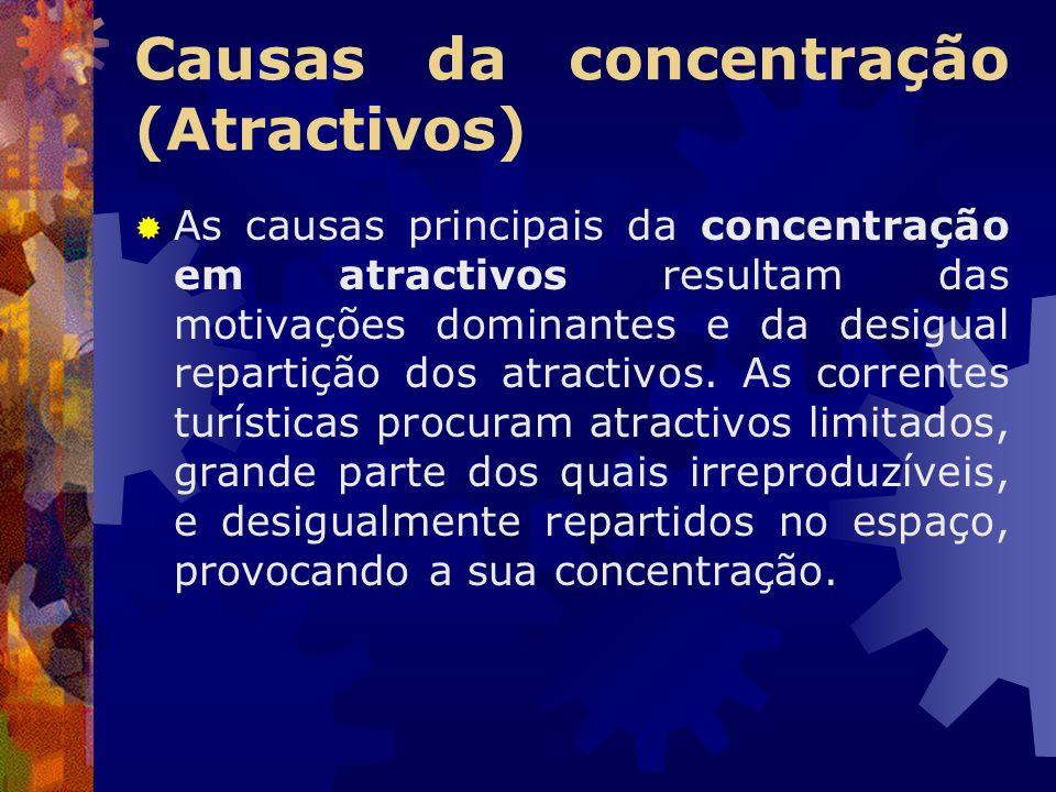 Causas da concentração (Atractivos)
