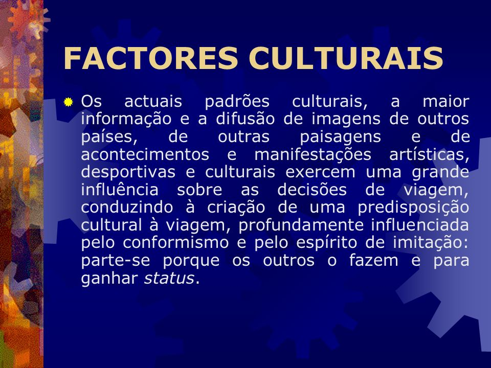 FACTORES CULTURAIS