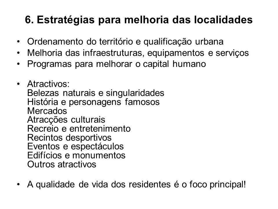 6. Estratégias para melhoria das localidades