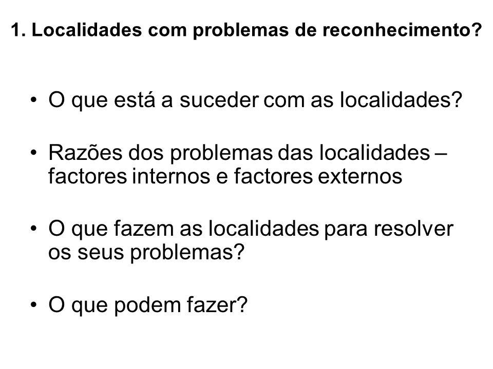 1. Localidades com problemas de reconhecimento