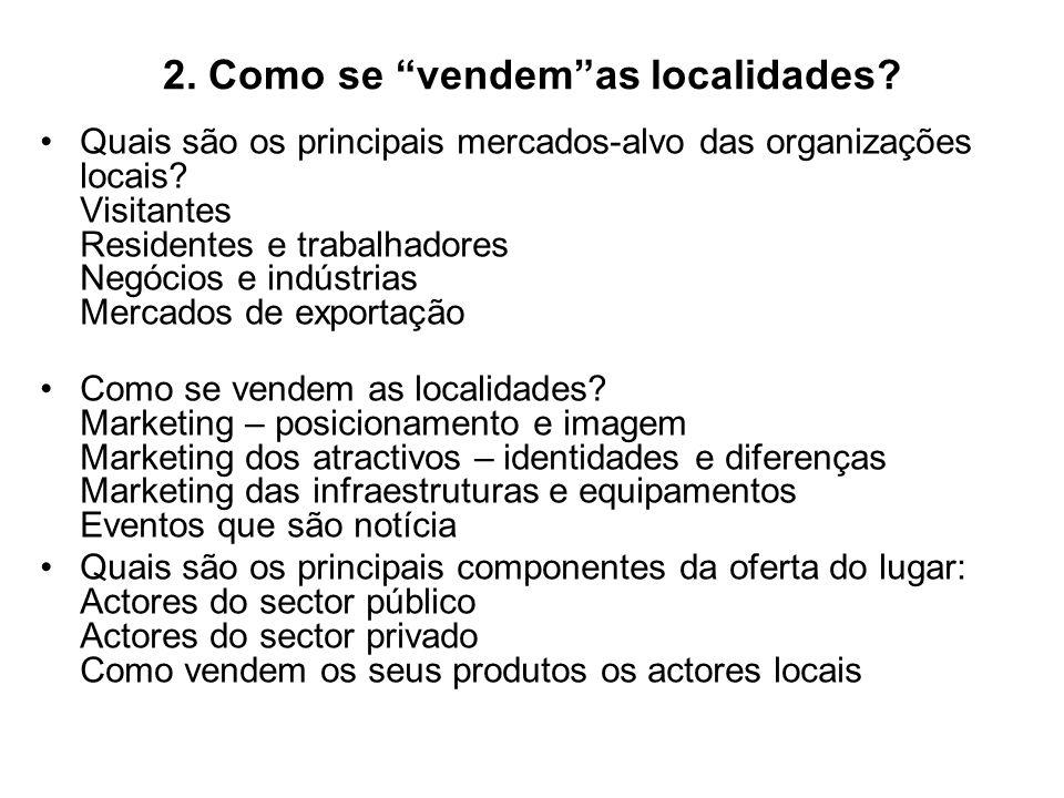 2. Como se vendem as localidades