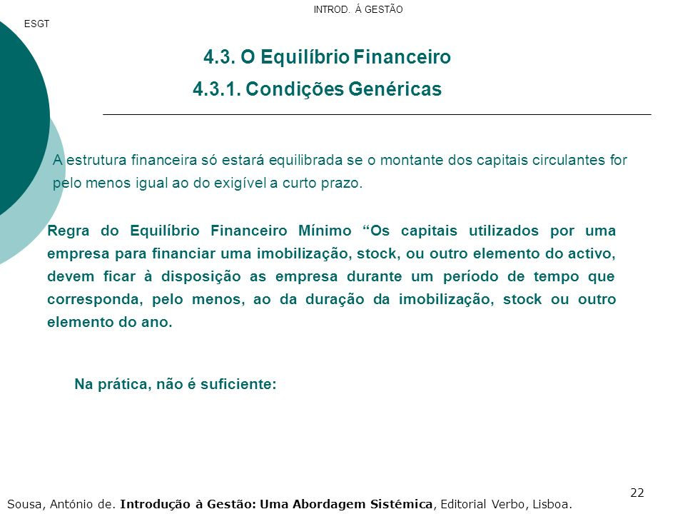 4.3. O Equilíbrio Financeiro