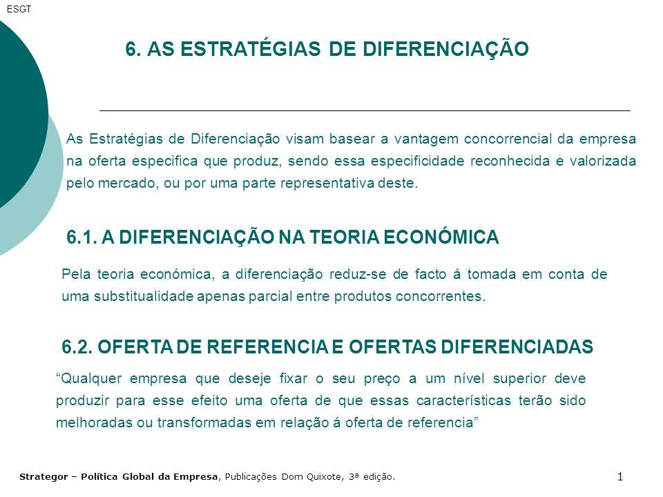 6. AS ESTRATÉGIAS DE DIFERENCIAÇÃO
