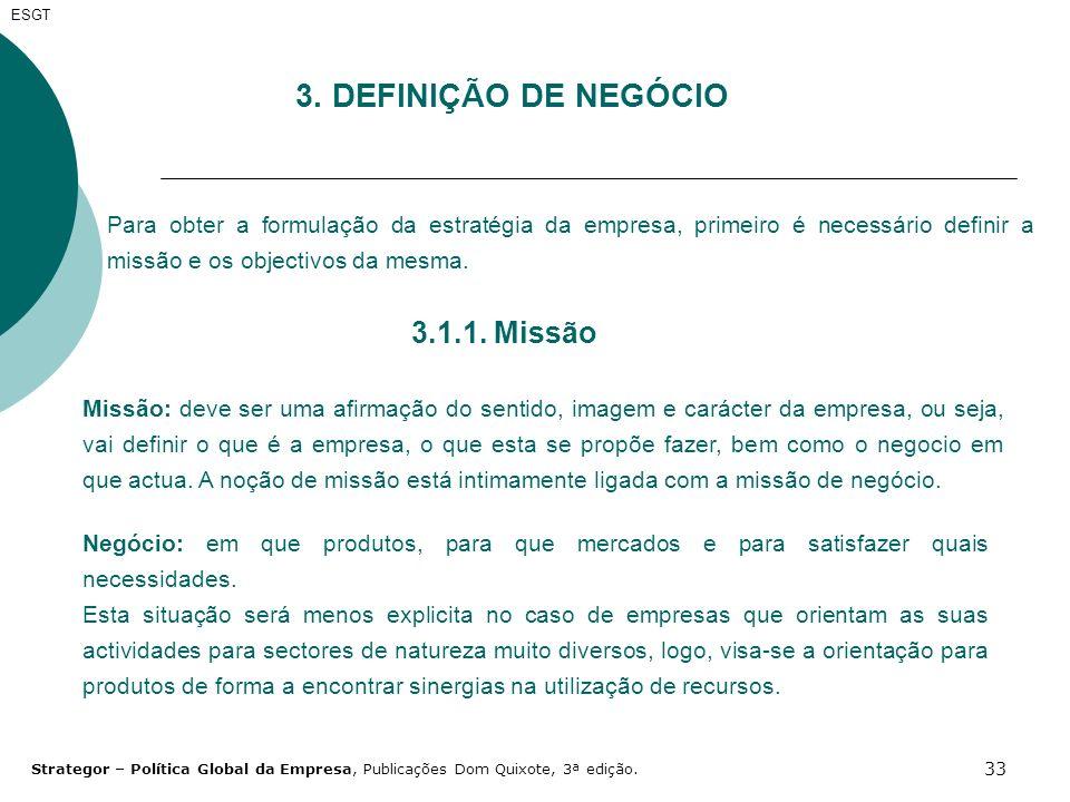 3. DEFINIÇÃO DE NEGÓCIO 3.1.1. Missão