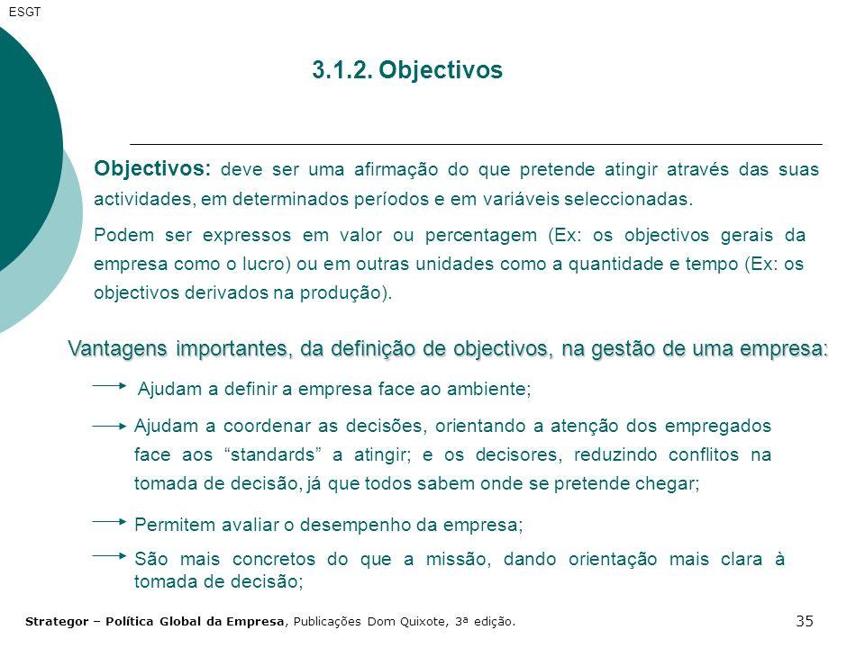 ESGT 3.1.2. Objectivos.