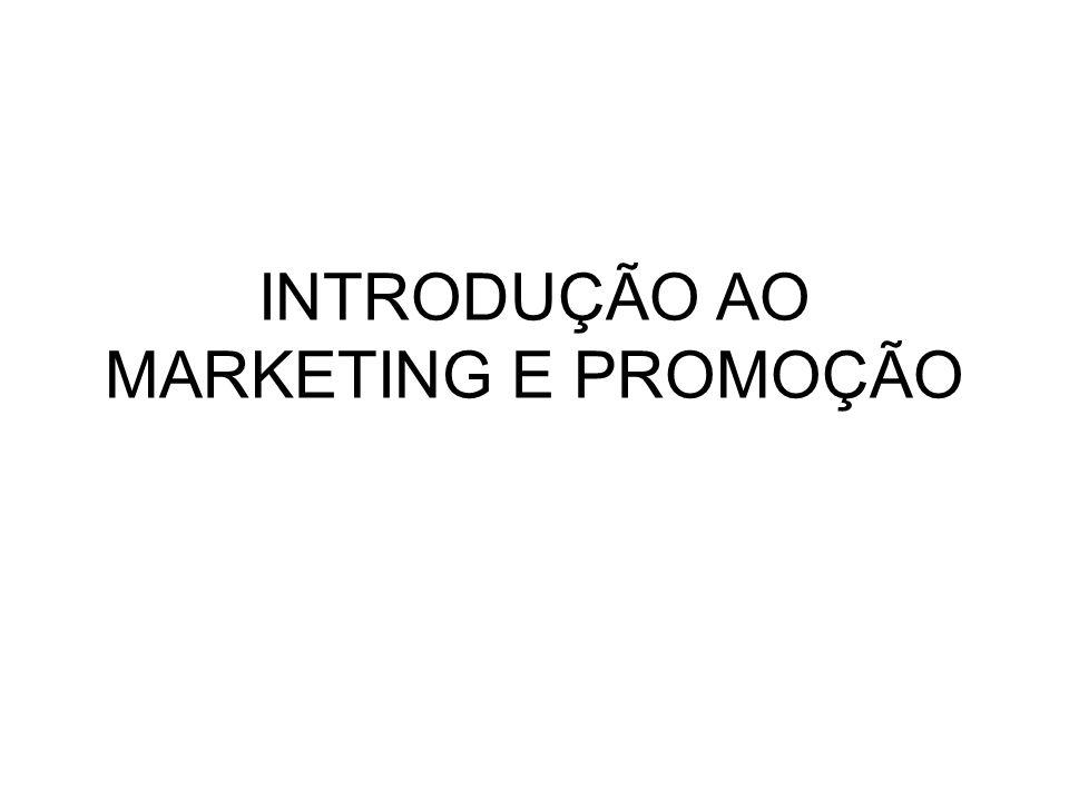 INTRODUÇÃO AO MARKETING E PROMOÇÃO