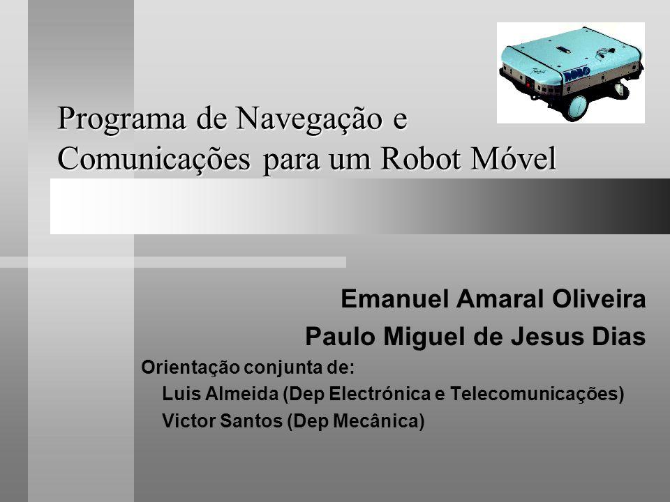 Programa de Navegação e Comunicações para um Robot Móvel
