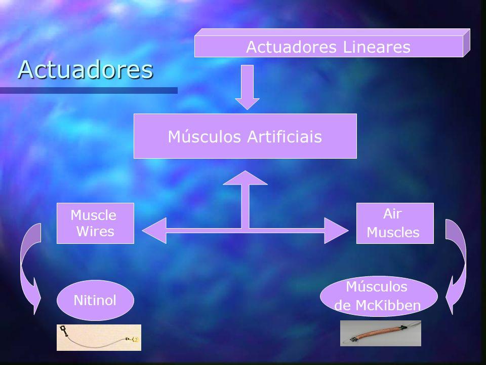 Actuadores Actuadores Lineares Músculos Artificiais Muscle Air Wires