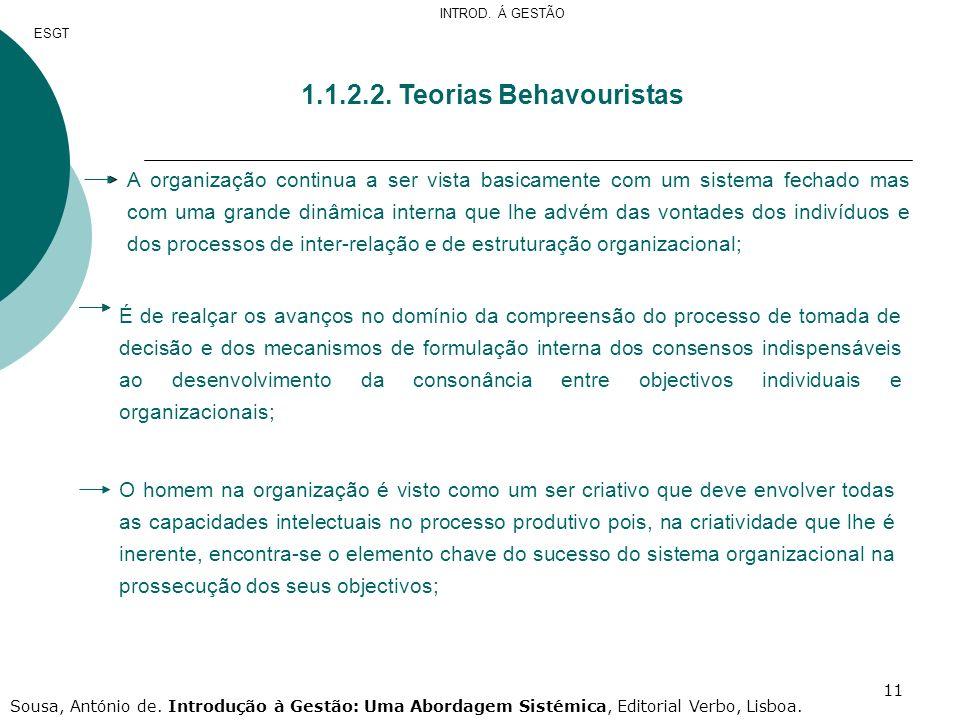 1.1.2.2. Teorias Behavouristas