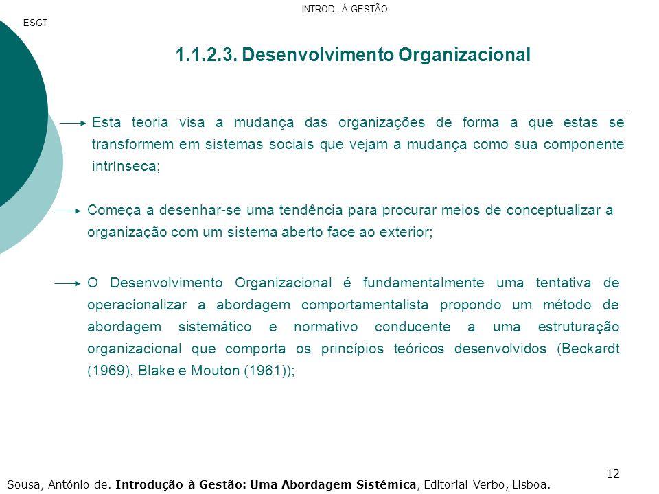 1.1.2.3. Desenvolvimento Organizacional