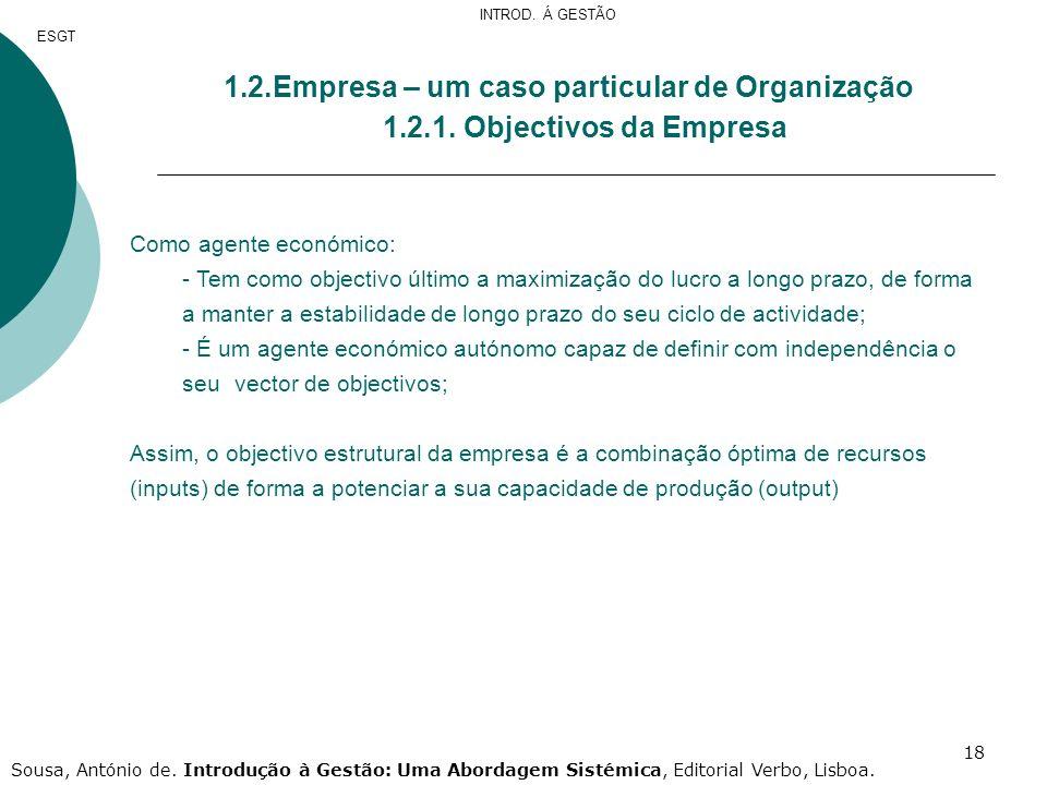 2.Empresa – um caso particular de Organização