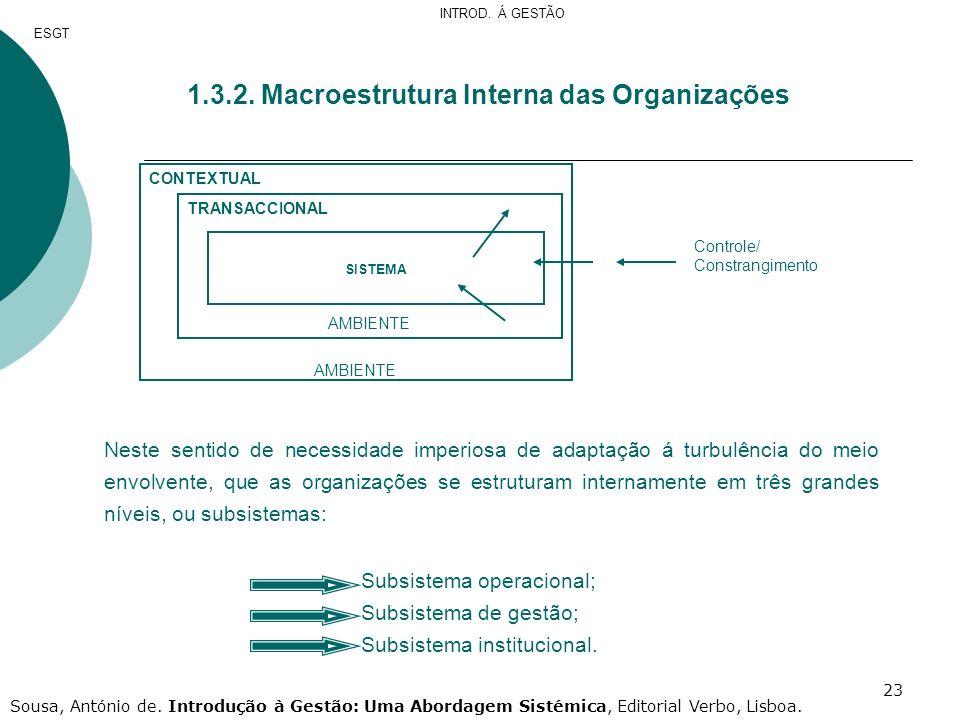 1.3.2. Macroestrutura Interna das Organizações