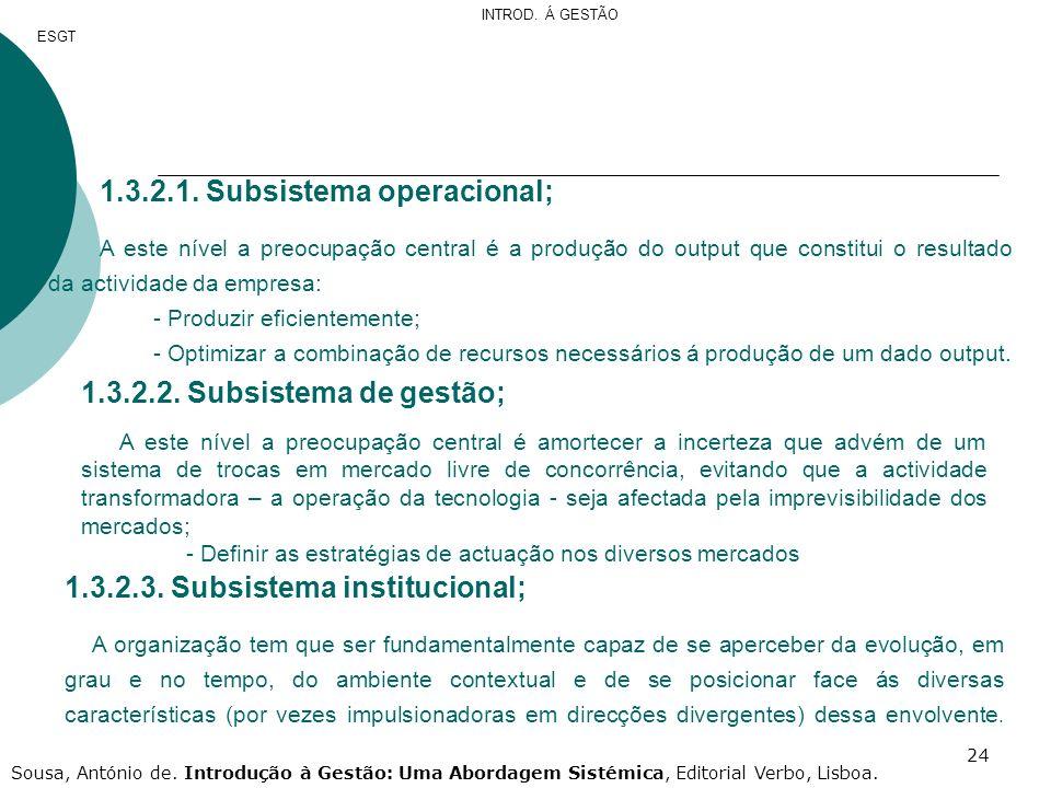 1.3.2.1. Subsistema operacional;