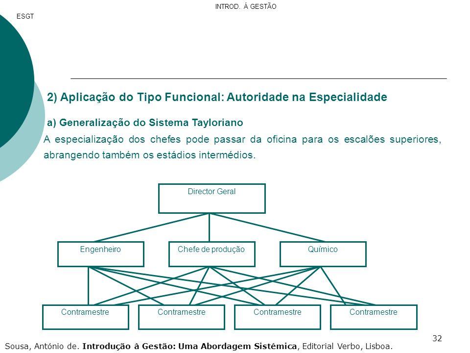 2) Aplicação do Tipo Funcional: Autoridade na Especialidade
