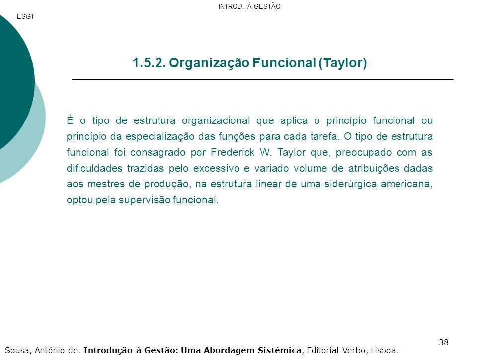 1.5.2. Organização Funcional (Taylor)