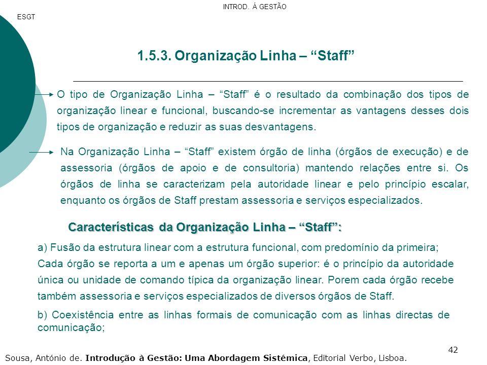 1.5.3. Organização Linha – Staff