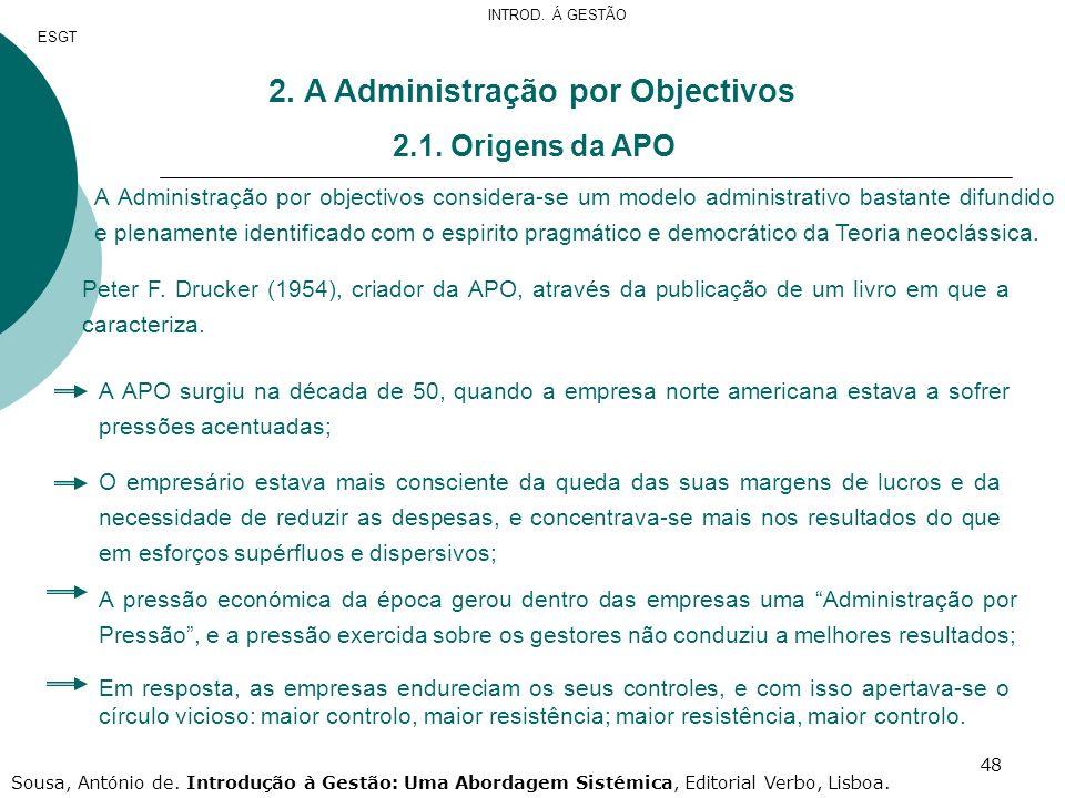 2. A Administração por Objectivos