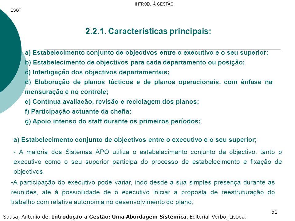 2.2.1. Características principais: