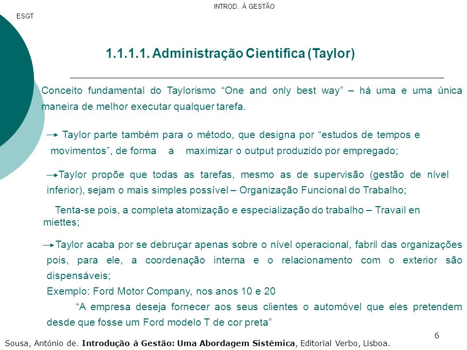 1.1.1.1. Administração Cientifica (Taylor)