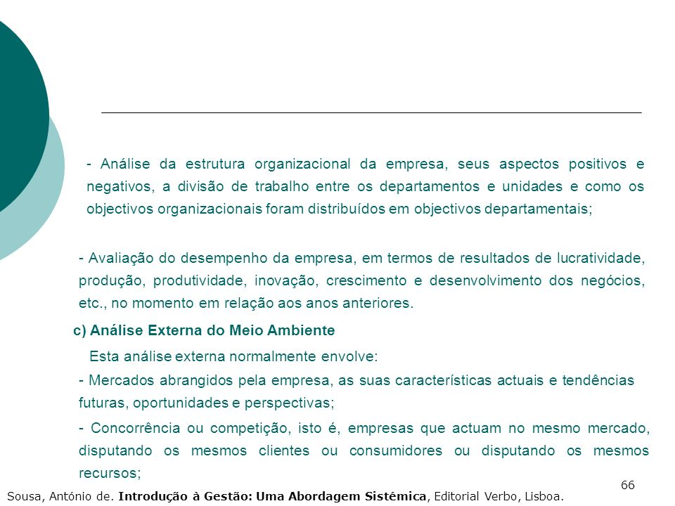c) Análise Externa do Meio Ambiente