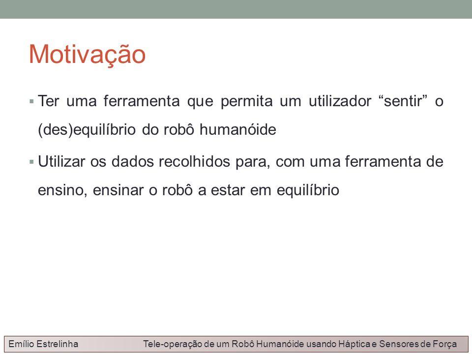 MotivaçãoTer uma ferramenta que permita um utilizador sentir o (des)equilíbrio do robô humanóide.