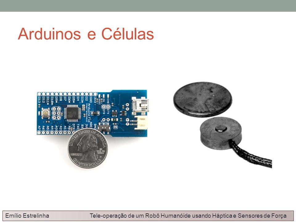 Arduinos e Células Emílio Estrelinha Tele-operação de um Robô Humanóide usando Háptica e Sensores de Força.