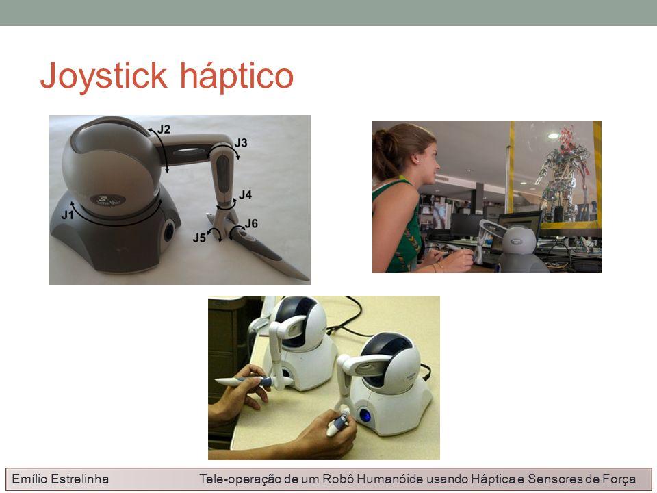 Joystick hápticoEmílio Estrelinha Tele-operação de um Robô Humanóide usando Háptica e Sensores de Força.