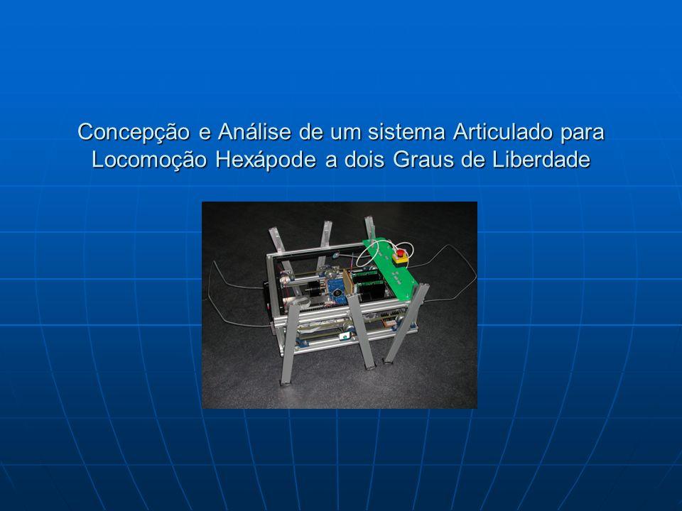 Concepção e Análise de um sistema Articulado para Locomoção Hexápode a dois Graus de Liberdade