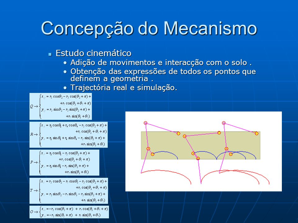 Concepção do Mecanismo