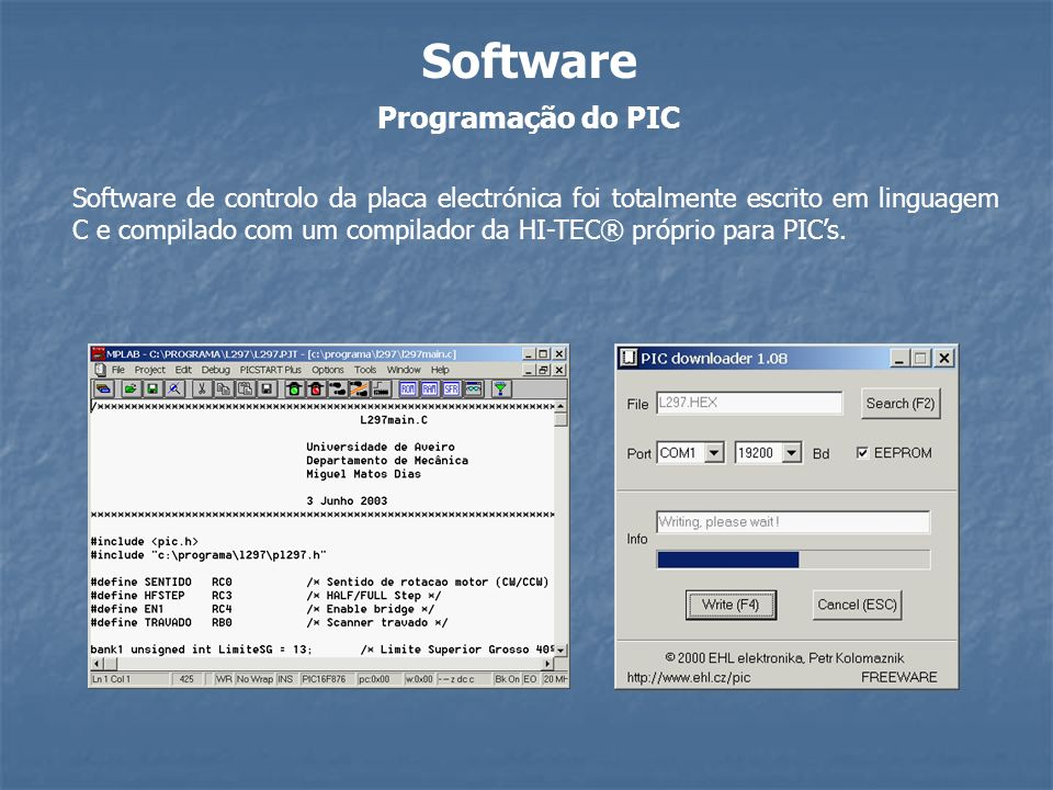 Software Programação do PIC