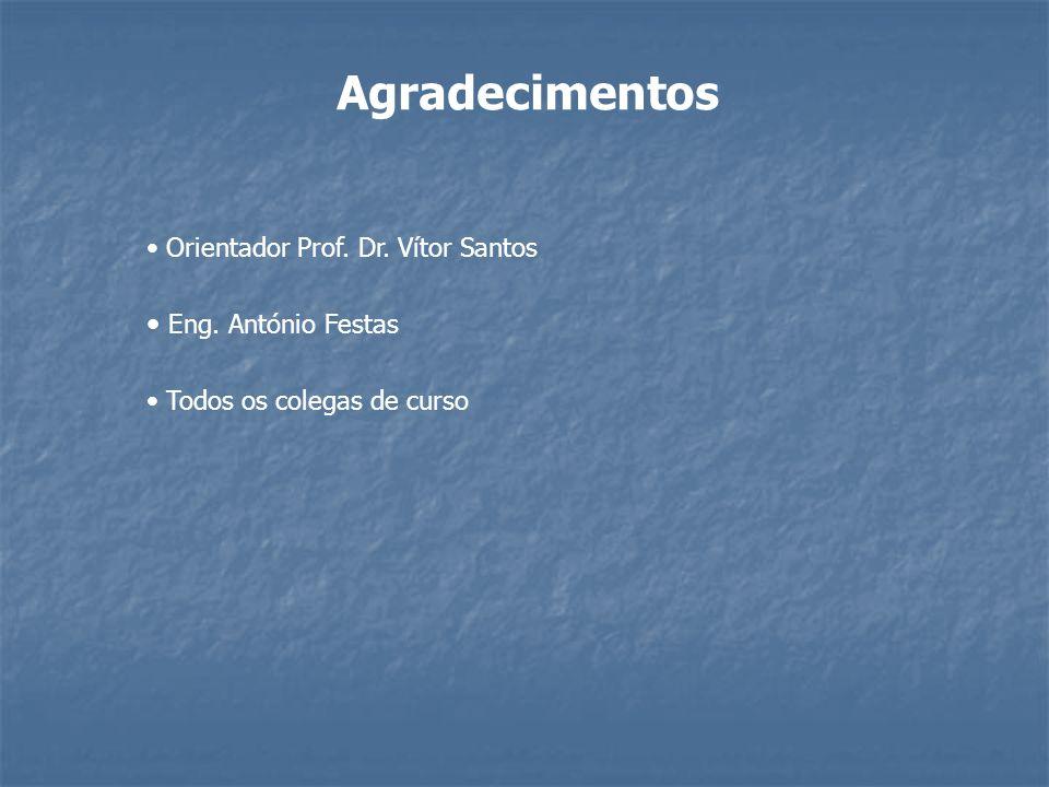 Agradecimentos Eng. António Festas Orientador Prof. Dr. Vítor Santos