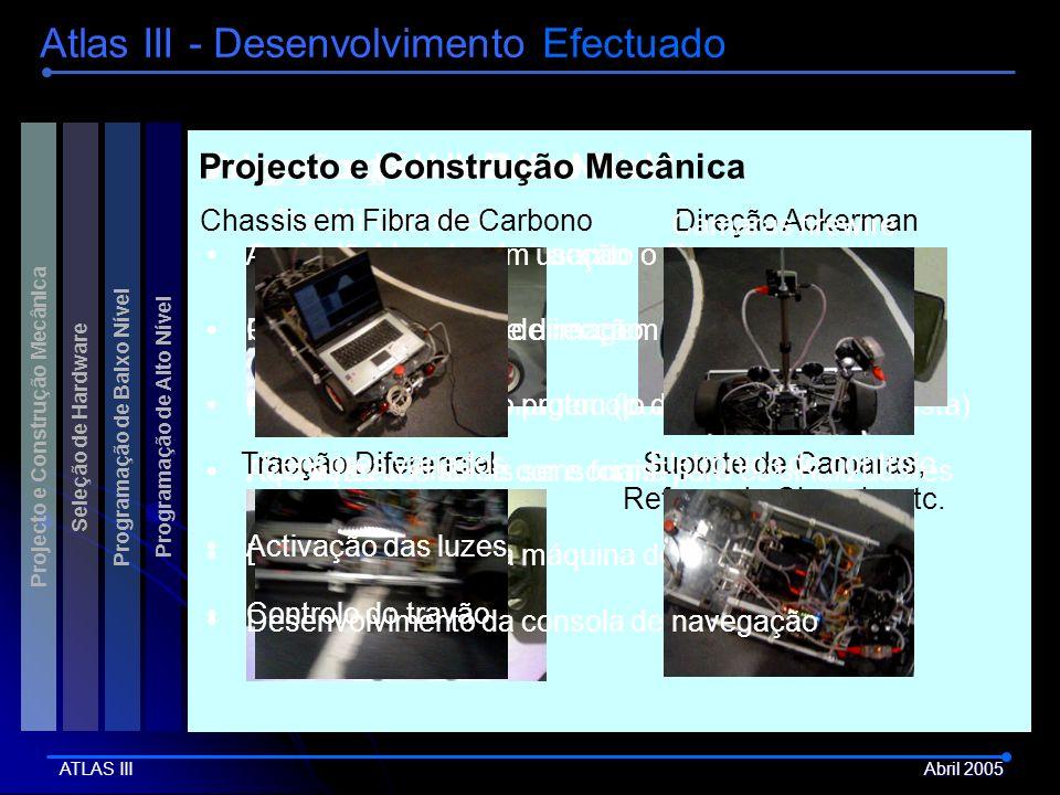 Atlas III - Desenvolvimento Efectuado