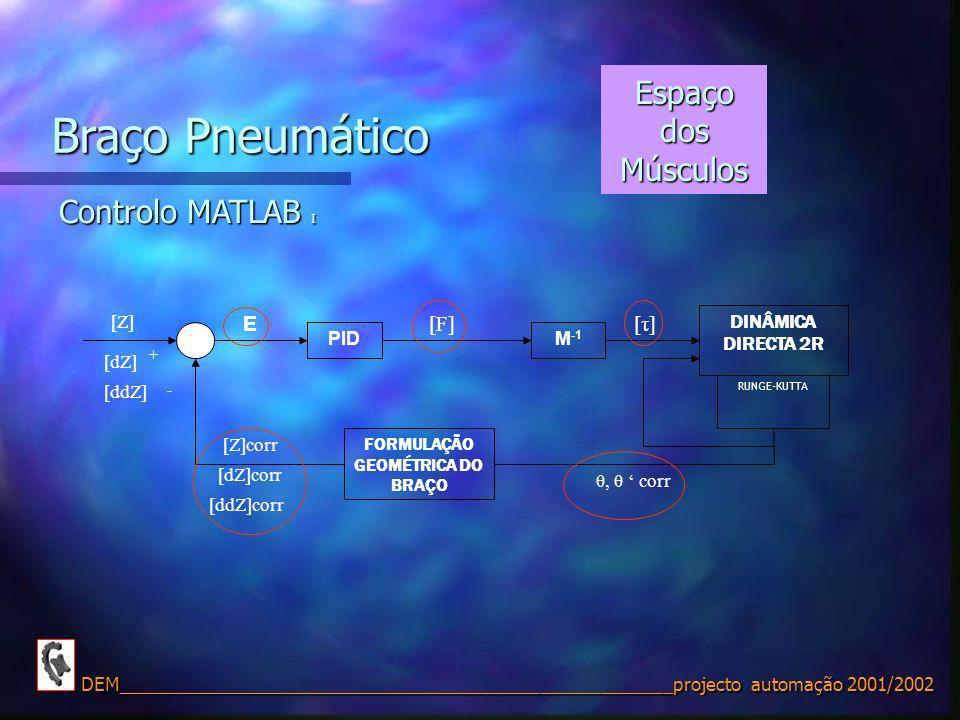FORMULAÇÃO GEOMÉTRICA DO BRAÇO
