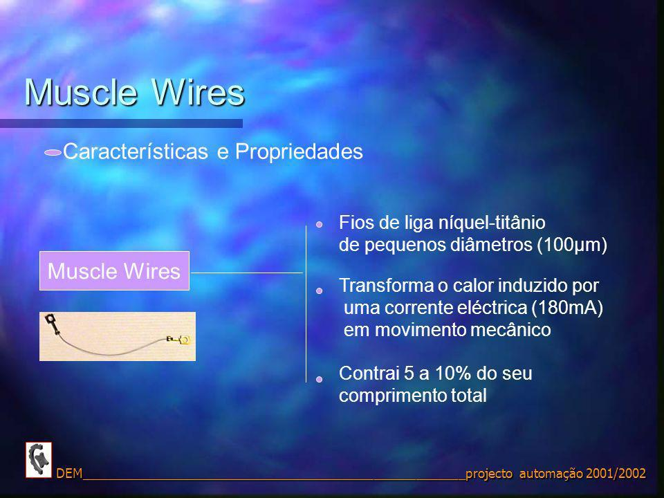 Muscle Wires Muscle Wires Características e Propriedades