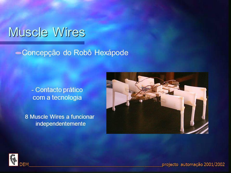 Muscle Wires Concepção do Robô Hexápode Contacto prático