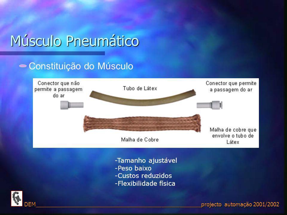 Músculo Pneumático Constituição do Músculo -Tamanho ajustável