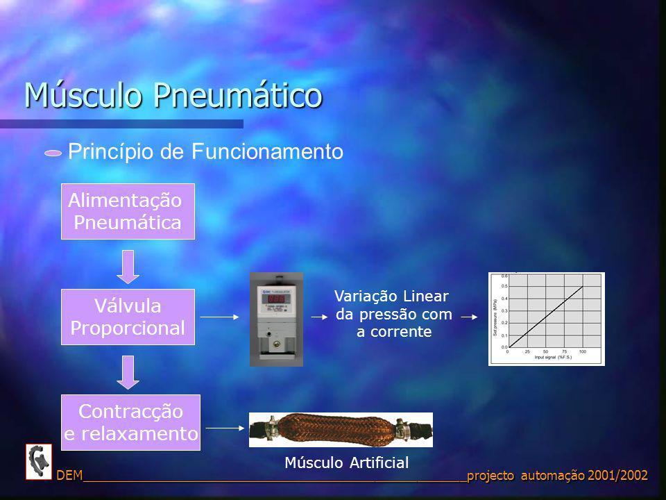 Músculo Pneumático Princípio de Funcionamento Alimentação Pneumática