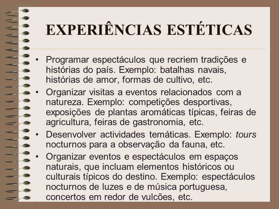 EXPERIÊNCIAS ESTÉTICAS