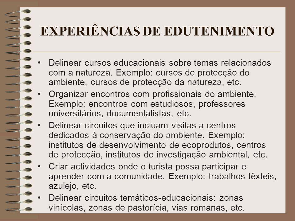 EXPERIÊNCIAS DE EDUTENIMENTO
