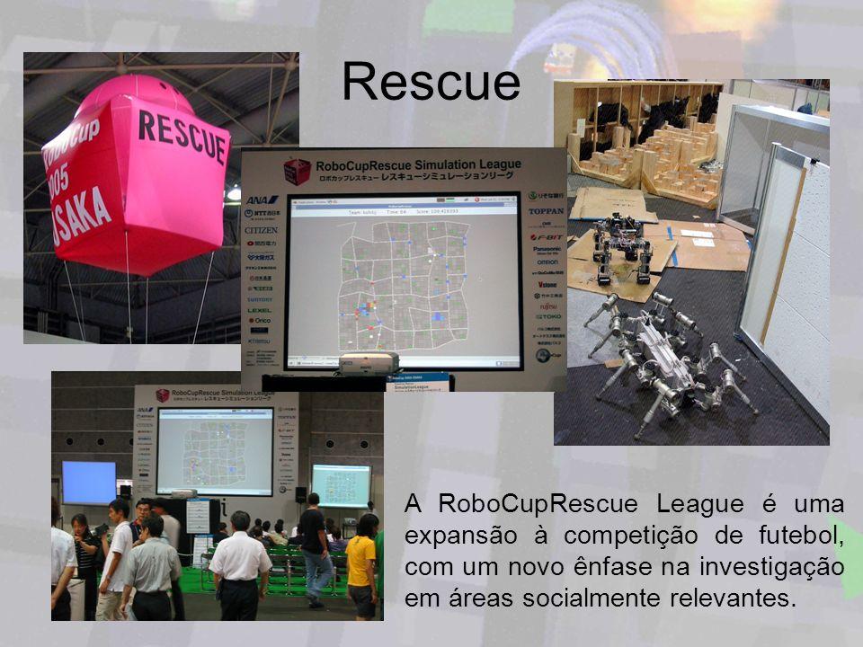 RescueA RoboCupRescue League é uma expansão à competição de futebol, com um novo ênfase na investigação em áreas socialmente relevantes.