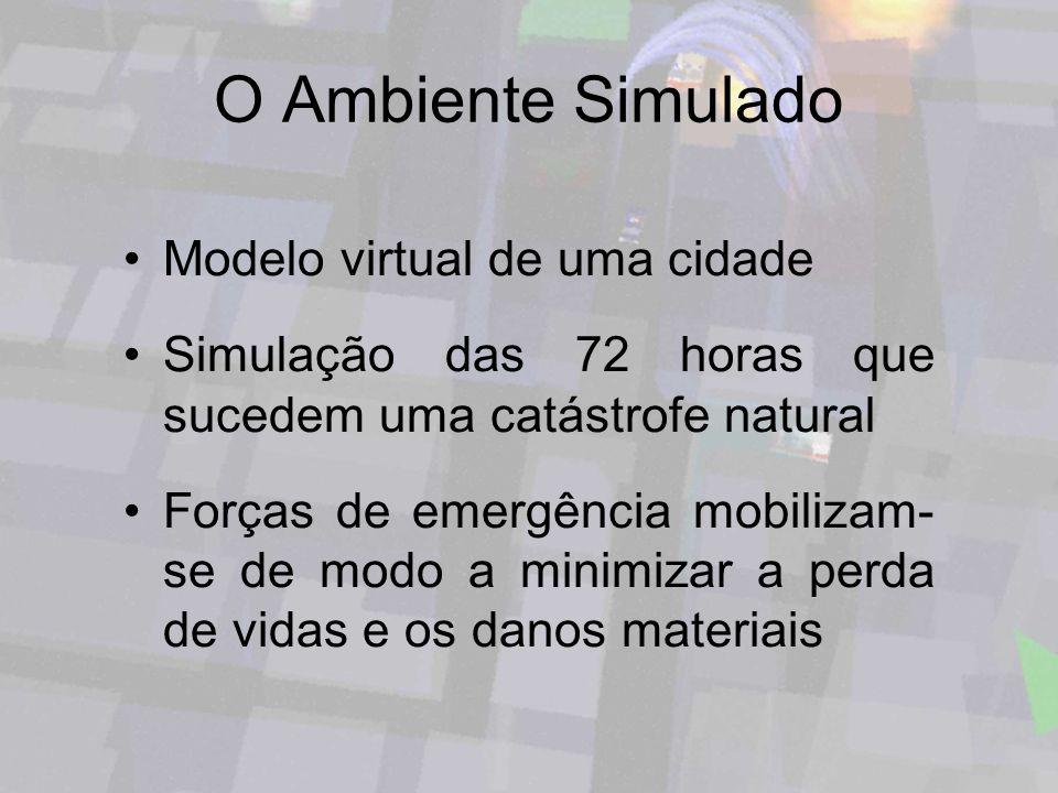 O Ambiente Simulado Modelo virtual de uma cidade
