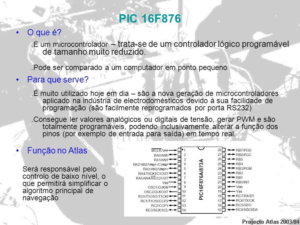 PIC 16F876 O que é Para que serve Função no Atlas