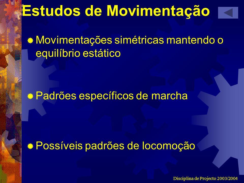 Estudos de Movimentação